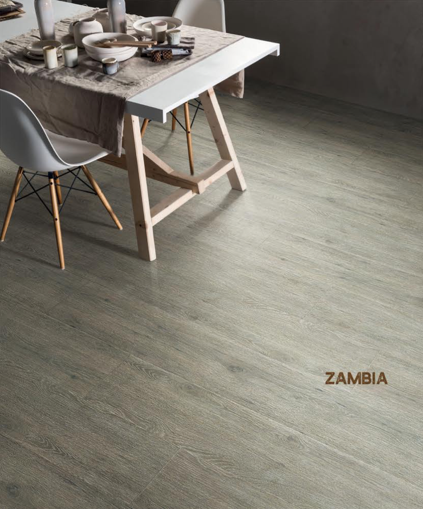 Rigid Core Waterproof Flooring, Zambia Ash Gray - Cabinet Sales Center