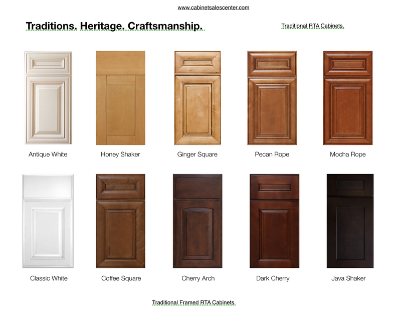 Glass Doors (2 Doors) - Traditional Line - Cabinet Sales Center