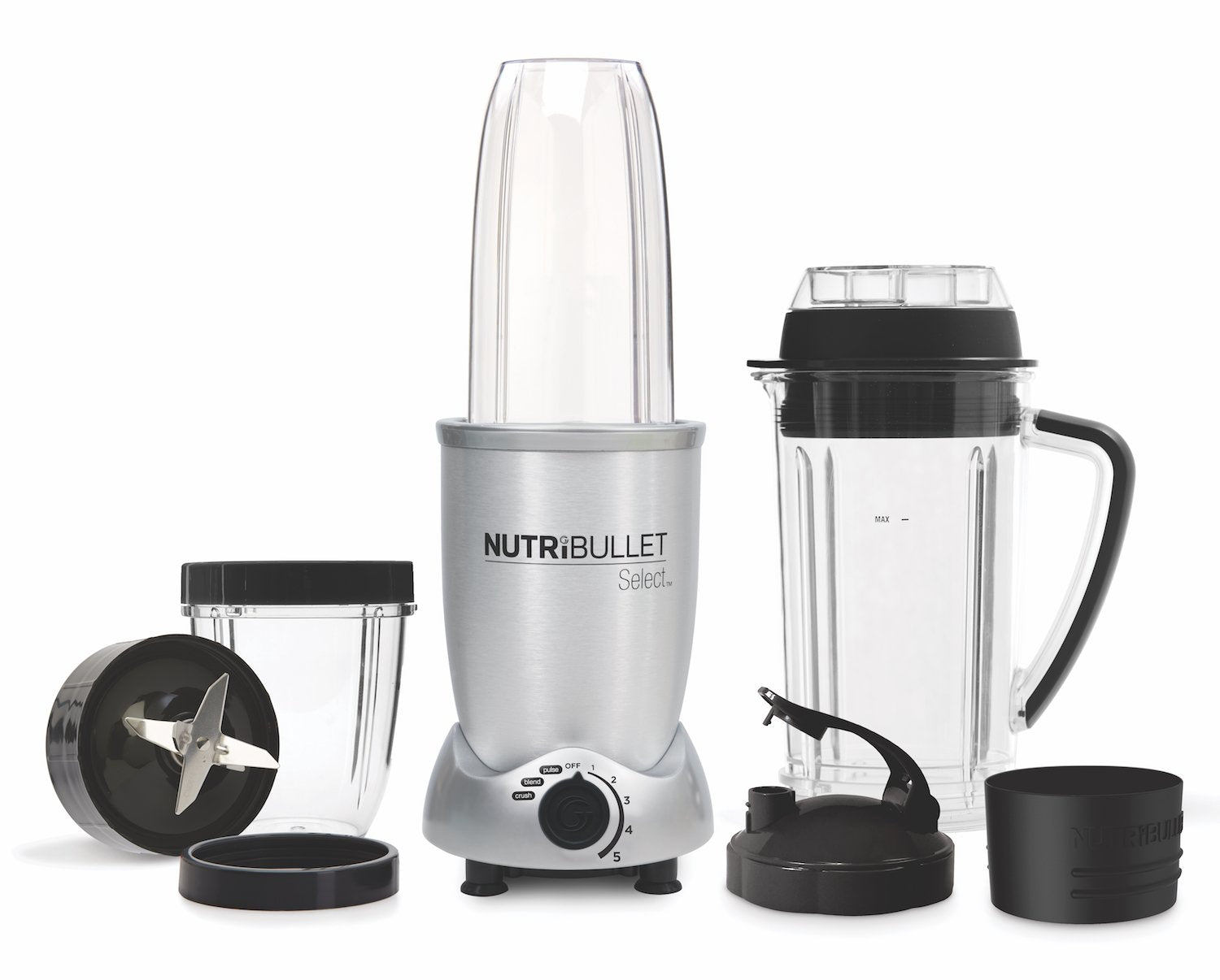 NutriBullet Select 1000W (Vit, 10-delar, Mixer/Blender)