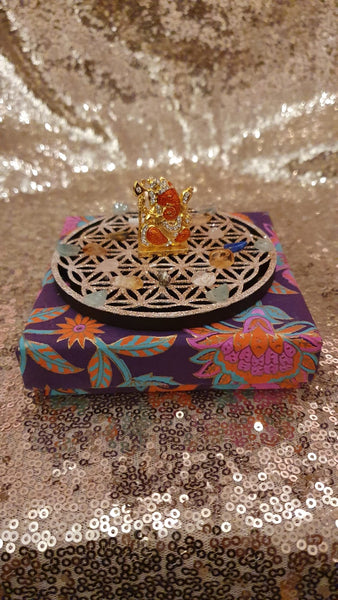 Copper Orange - Lord Ganesha Abundance Crystal Healing Grid