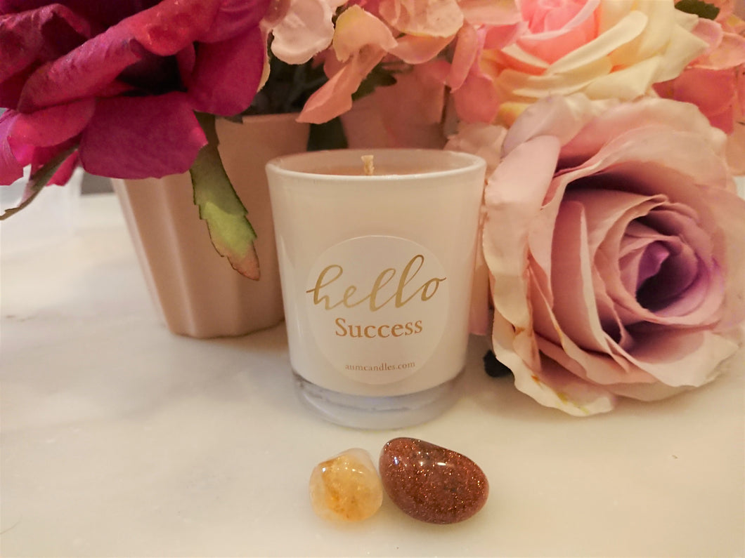 LOA SUCCESS crystal candle