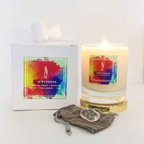 Moon Reiki Crystal Candle 20cl