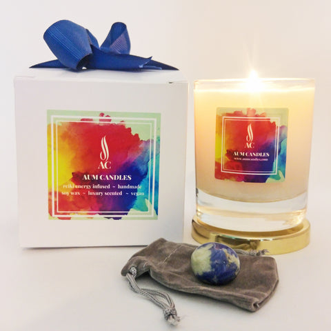 Third Eye Chakra Reiki Crystal Candle
