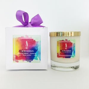 Crown Chakra Reiki Crystal Candle 20cl
