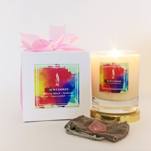 Love Reiki Crystal Candle 20cl