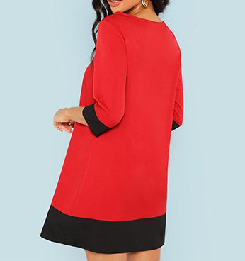 39e69fd6f11 Terra Ombré - The Fashion Collective: Red with Black Tunic Dress – Terra  Ombre - The Fashion Collective