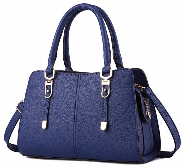Luxury Tote Bag with Strap - Blue