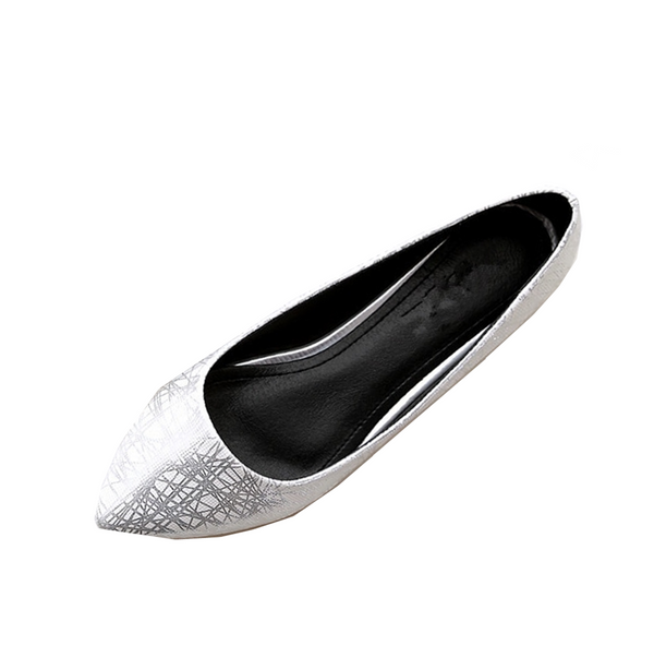 Women's Casual Pointed Toe Flats - White