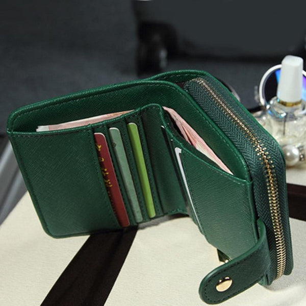 Small Ladies Wallet - Green - Interior