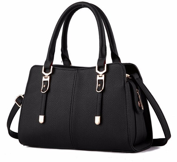 Luxury Tote Bag with Strap - Black