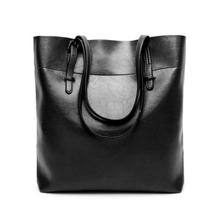 Large Shoulder Bag, Perfect for Work - Black