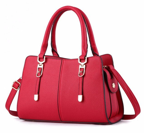 Luxury Tote Bag with Strap - Red