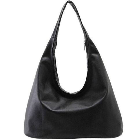 Casual Hobo Shoulder Bag - Black