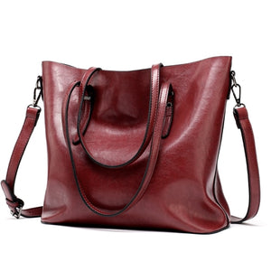 Casual Shoulder Bag - Red