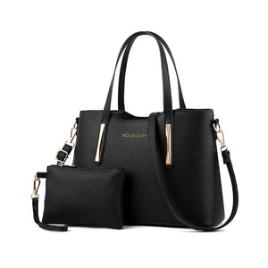 Shoulder Bag with Purse - Black