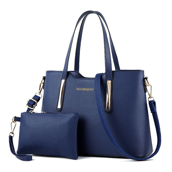 Shoulder Bag with Purse - Blue