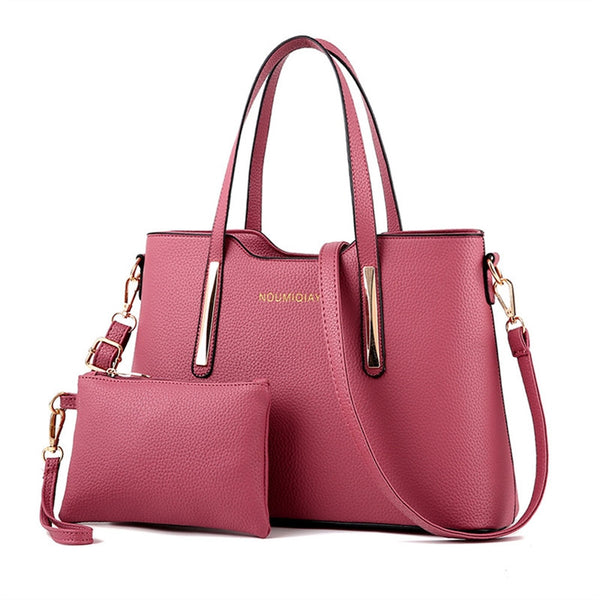 Shoulder Bag with Purse - Pink