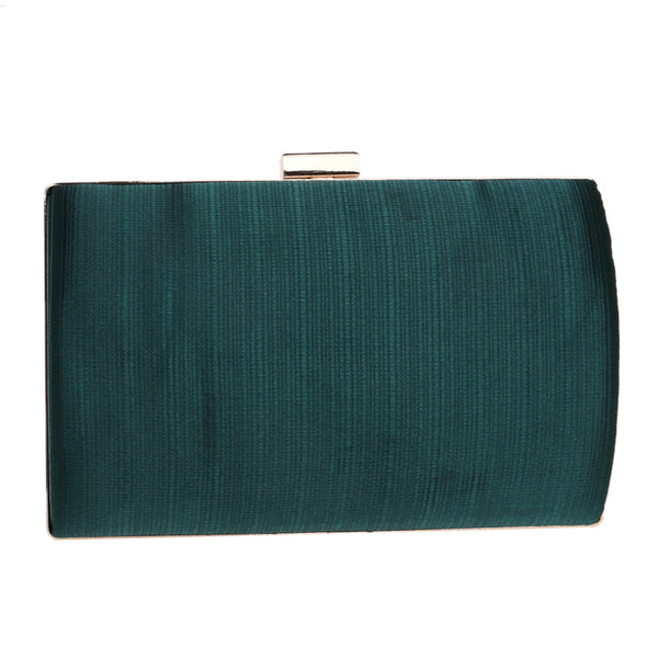 Elegant Evening Clutch Bag with Tassel Detail - Rectangle - Green - Back