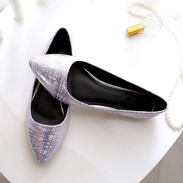 Women's Casual Pointed Toe Flats - Purple