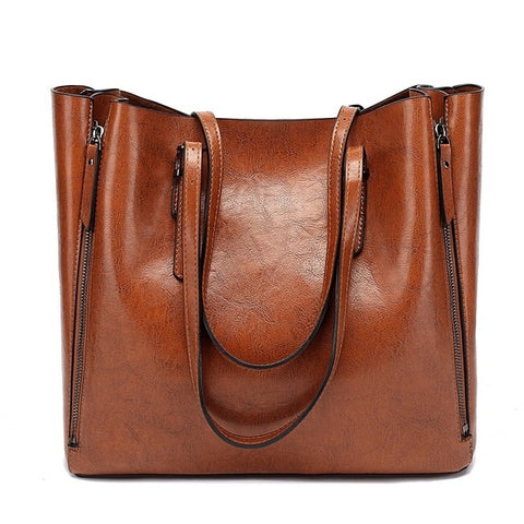Large Tote Bag - Brown