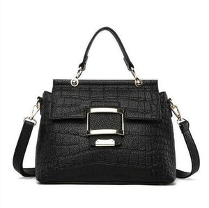 Elegant Shoulder Bag with Big Buckle Detail - Multiple Colours
