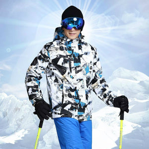 Warm Hooded Ski Jacket-Thermal Windproof Waterproof Ski Jacket-ski-season