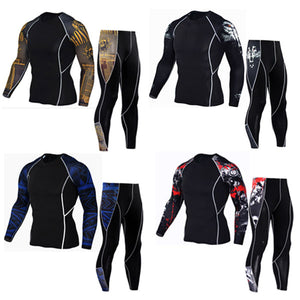 Compression Fleece Thermal Underwear Set