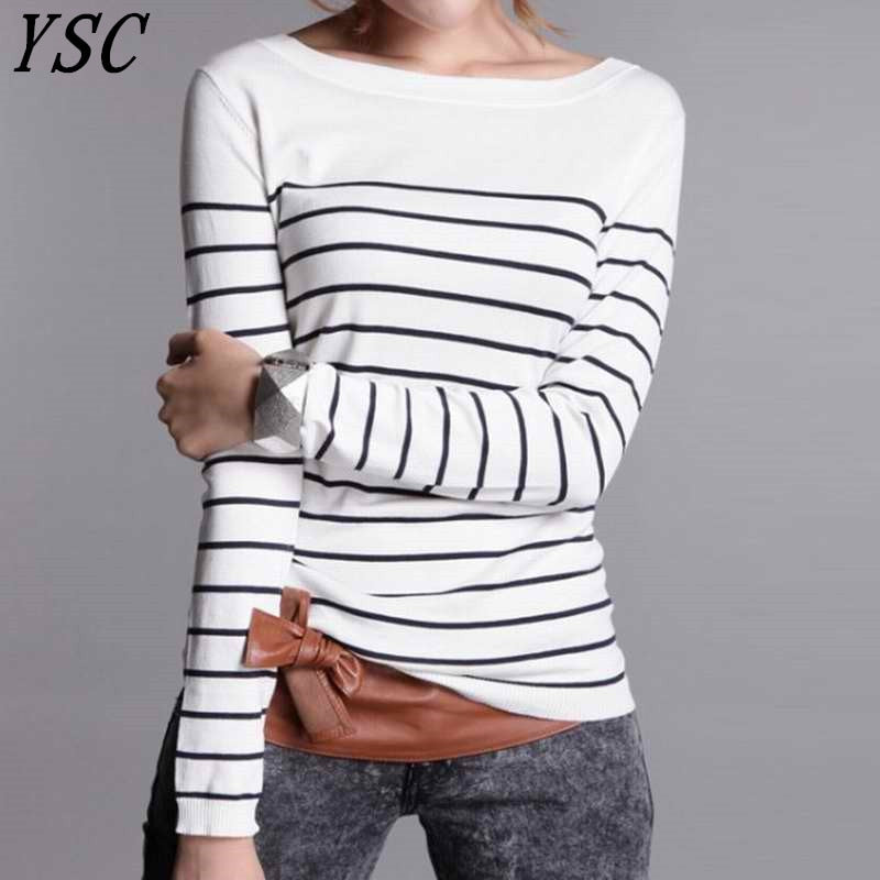 Cashmere Wool Stripe Pullover