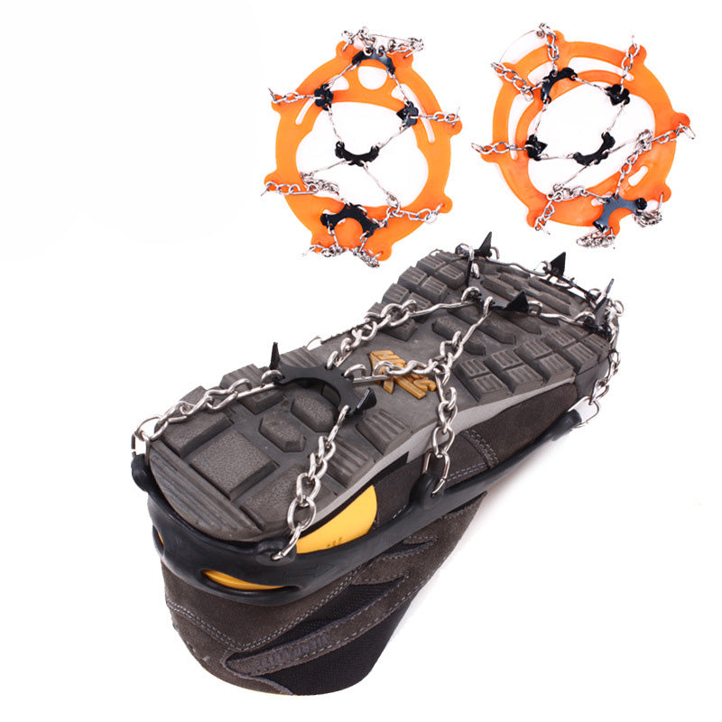 8 Teeth Non-slip Ice Crampons-8 Teeth Non-slip Claws Ice Crampons Manganese Steel & Stainless Steel Gripper Ski Snow Chain Cover Shoes-ski-season