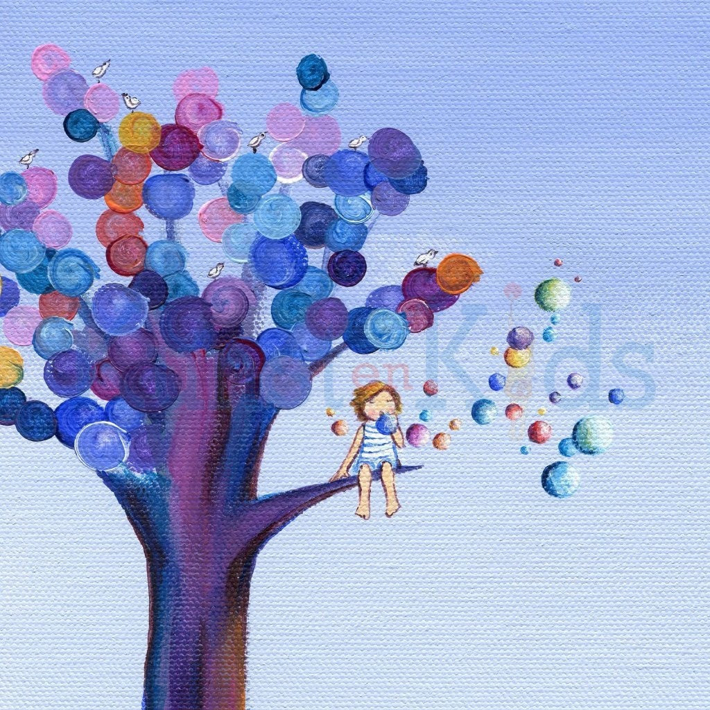 Geboortekaartje - Bubble Tree