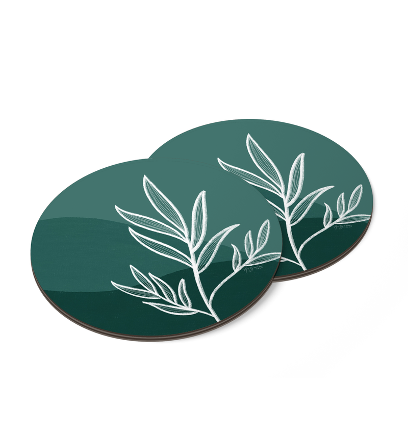 Leaves Coaster by Artyana