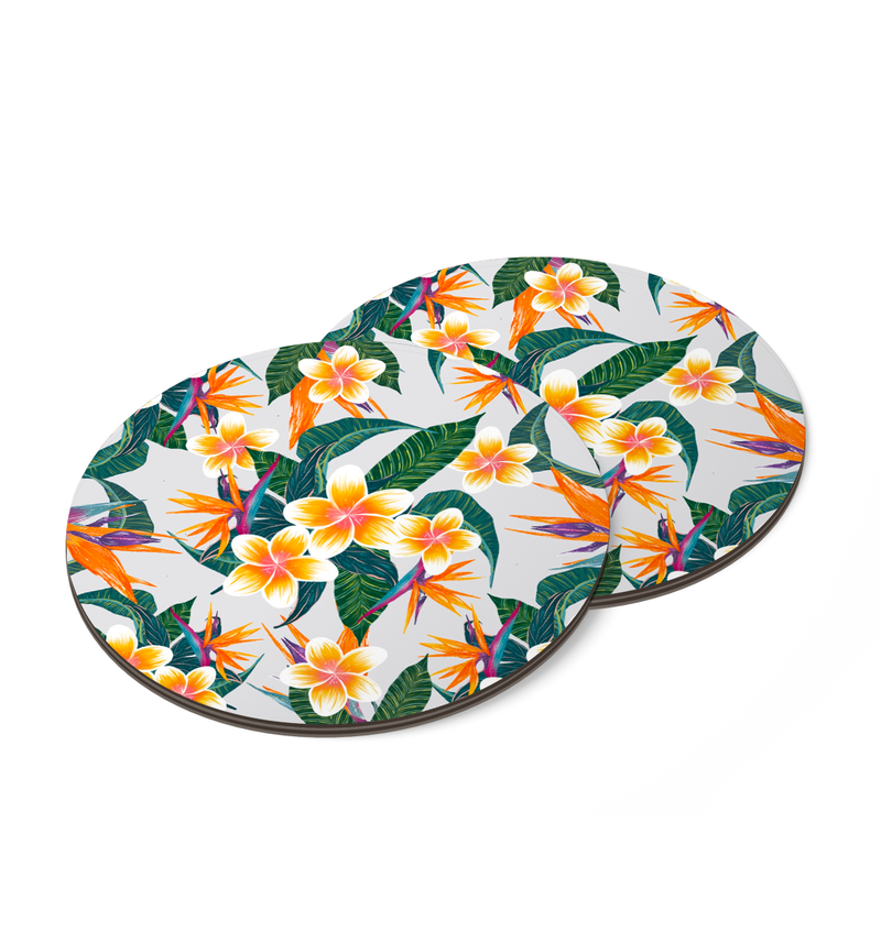Plumerias In Bloom Coaster by Tin Bejar
