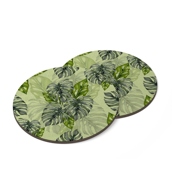 Tropical Greens Coaster by Tin Bejar