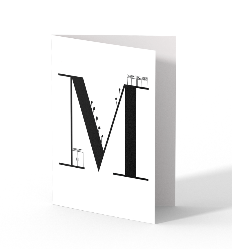 M Greeting Cards by Clems on Paper