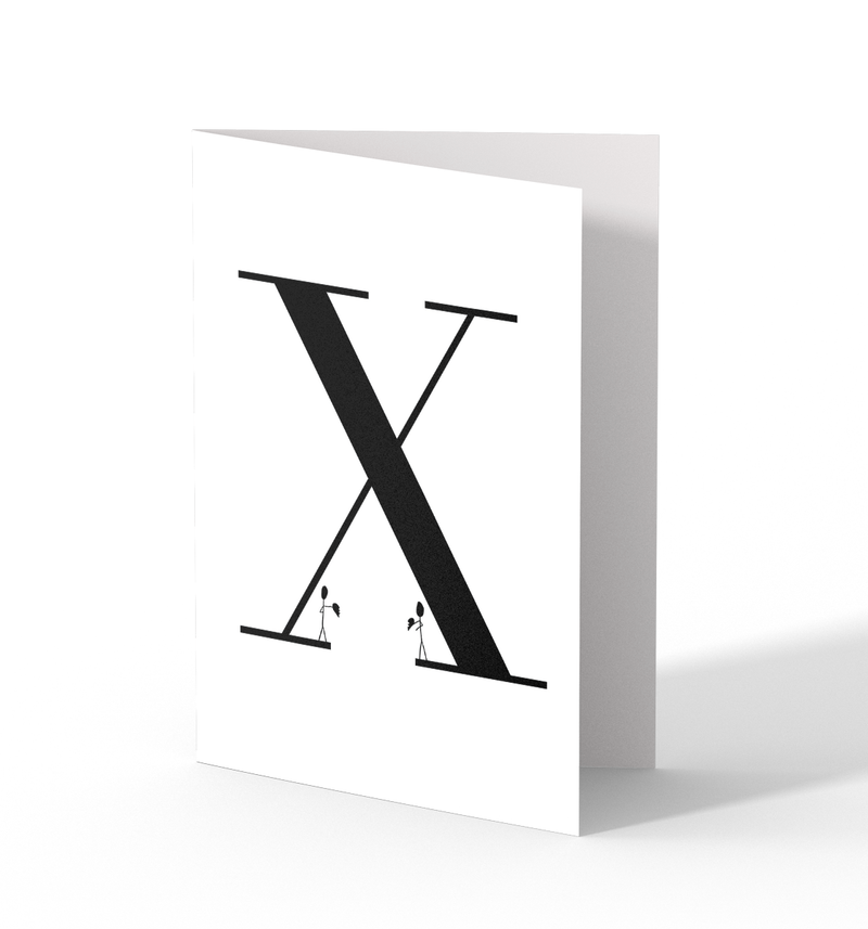 X Greeting Cards by Clems on Paper
