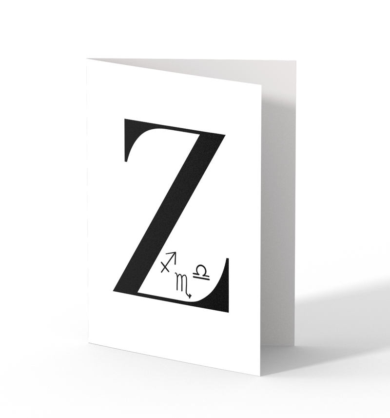 Z Greeting Cards by Clems on Paper