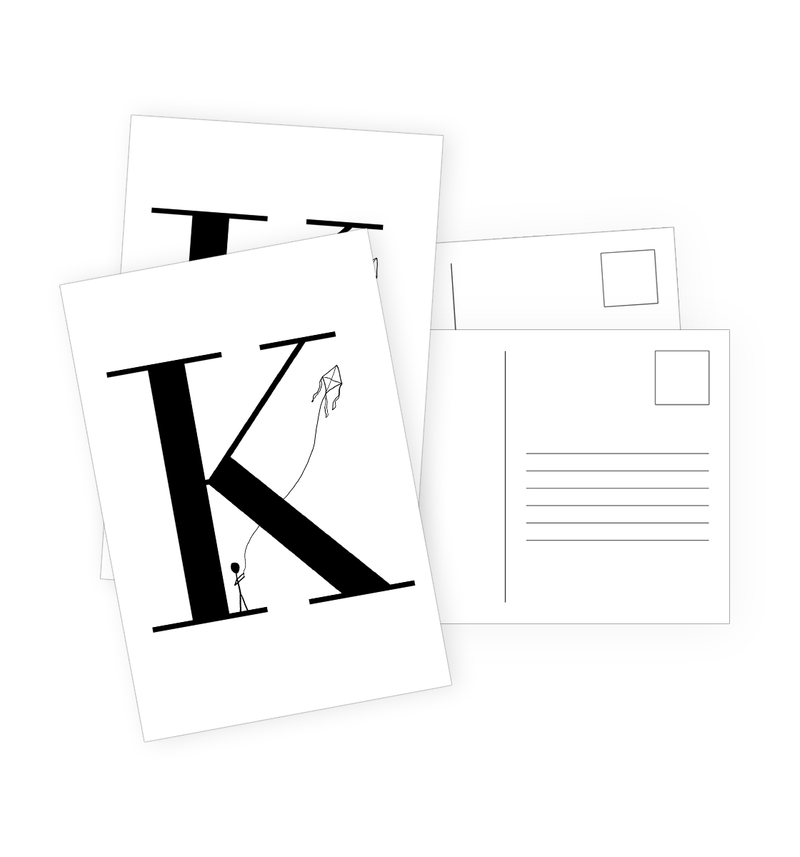 K Postcards by Clems on Paper
