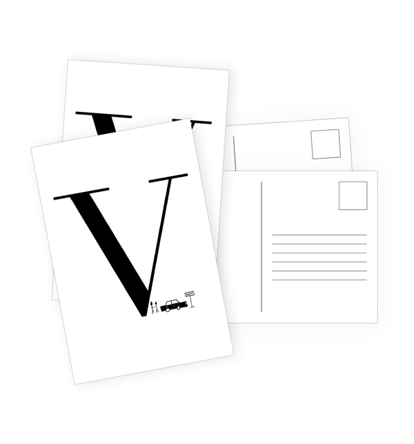 V Postcards by Clems on Paper