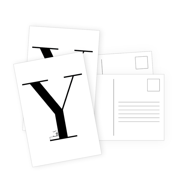 Y Postcards by Clems on Paper