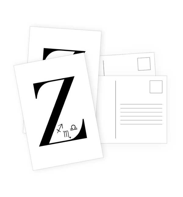 Z Postcards by Clems on Paper