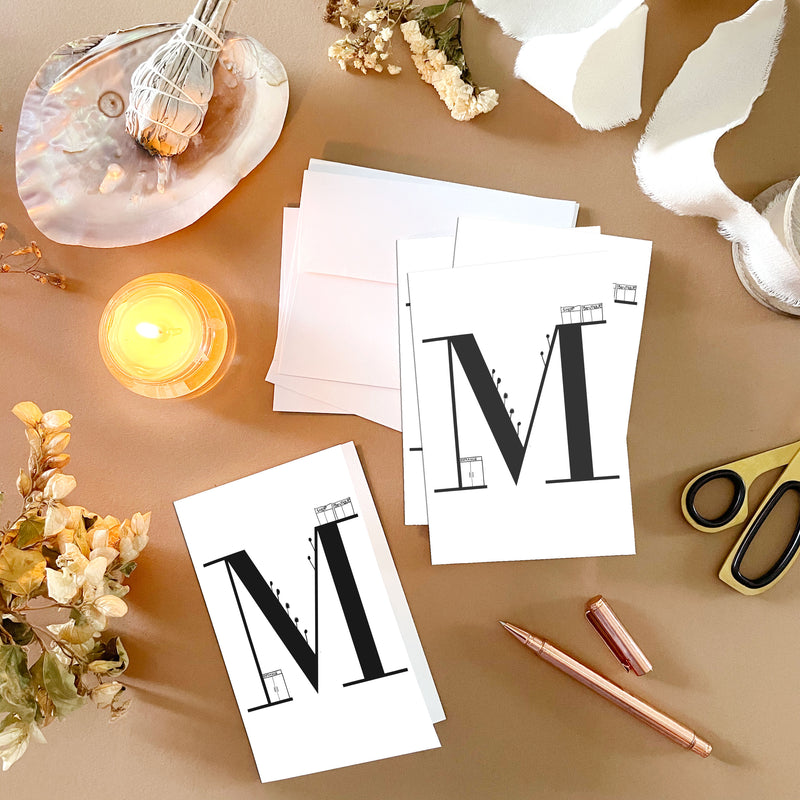 M Note Cards by Clems on Paper