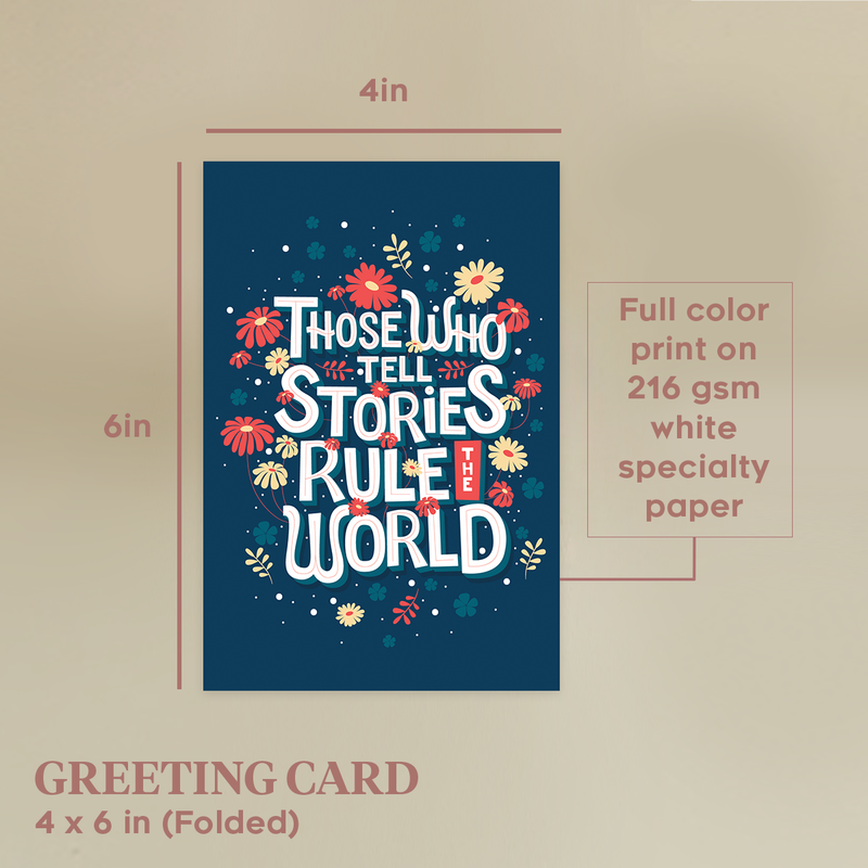 Stories Rule The World Note Cards by Maria Cielo