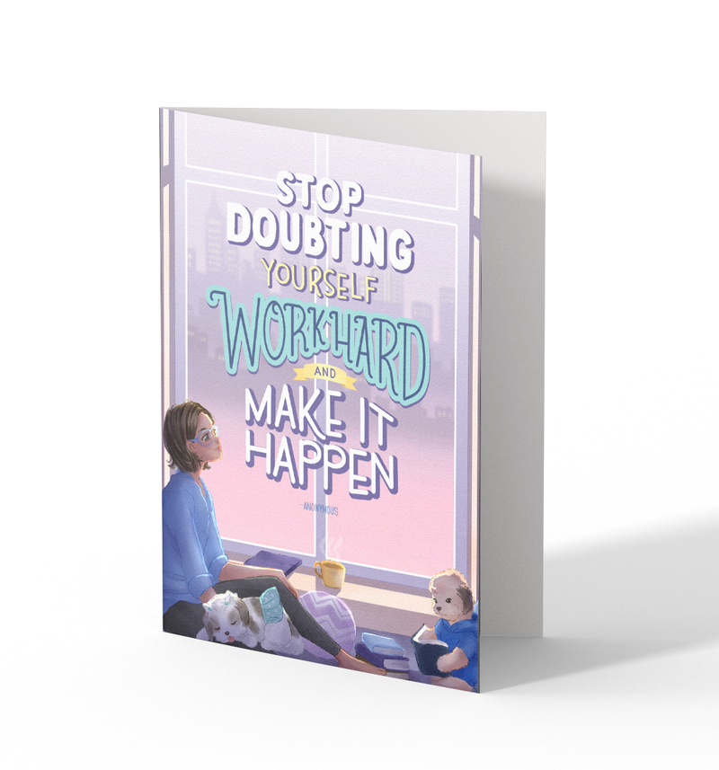 Stop Doubting Greeting Cards by Lewe Obispo