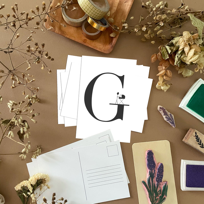 G Postcards by Clems on Paper