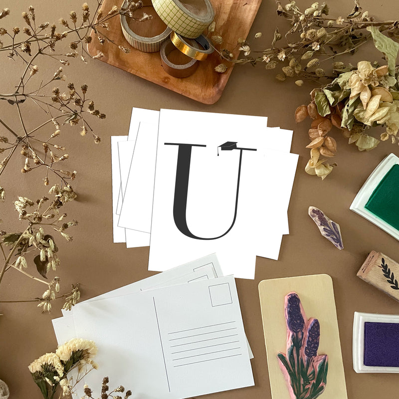 U Postcards by Clems on Paper