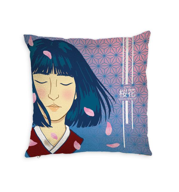 Cherry Blossom Throw Pillow by MYC Alamban