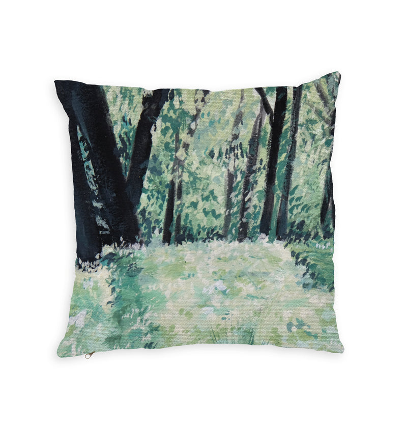 Secret Garden Throw Pillow by Ava Bernabe