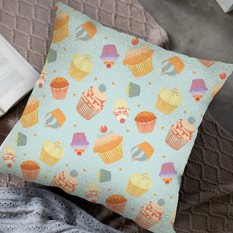 Cupcake Overload Throw Pillow by Maria Cielo