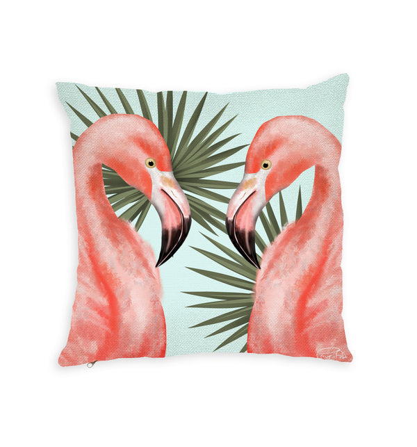 Flamingo Throw Pillow by PAUPI