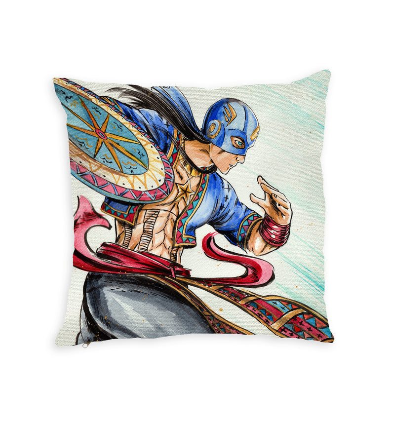 Datu Esteban Throw Pillow by Spatialchild